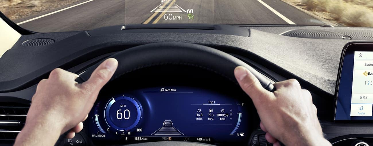 The driver display of a 2020 Ford Escape is shown.