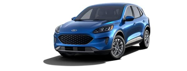 A blue 2020 Ford Escape is facing left.