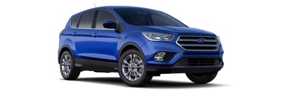 A blue 2019 Ford Escape is facing right.