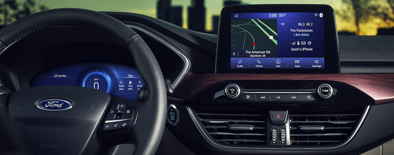 A close up of the infotainment system in the all-new 2020 Ford Escape is shown.