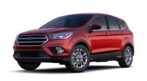 A red 2019 Ford Escape is facing left.