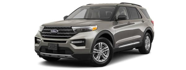A grey 2020 Ford Explorer is facing left.