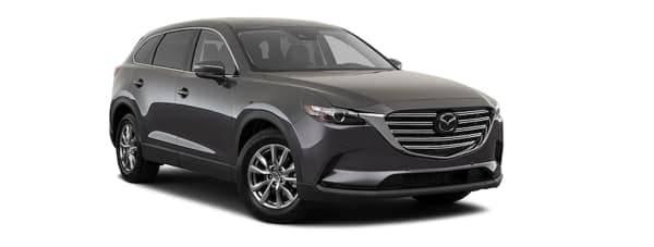 A black 2020 Mazda CX-9 is facing right.