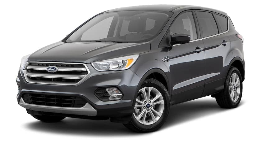 A dark grey 2018 Ford Escape us facing left.