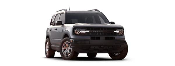 A silver 2021 Ford Bronco Sport is angled right.