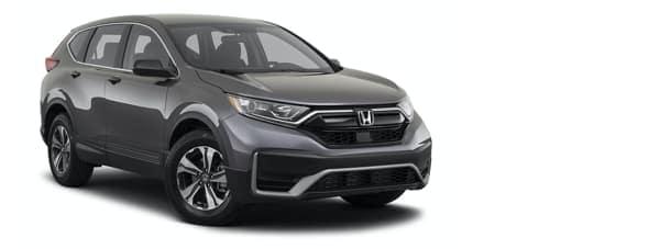 A grey 2021 Honda CR-V is angled right.