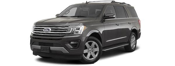 A gray 2021 Ford Expedition is angled left.