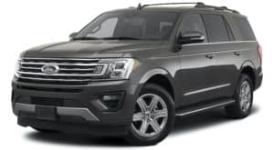 A grey 2021 Ford Expedition is angled left.