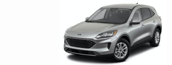 A silver 2021 Ford Escape is angled left.