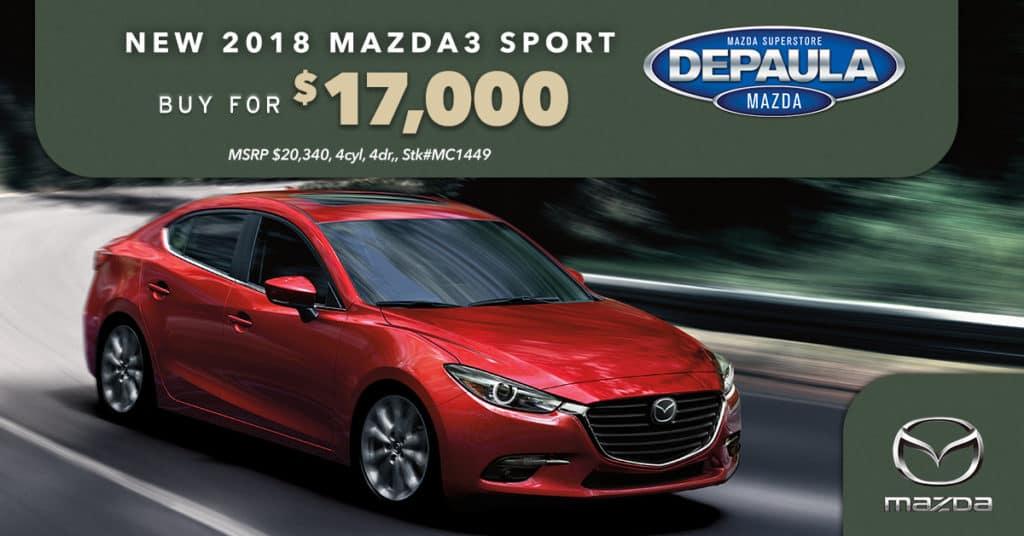 New 2018 Mazda3 Sport