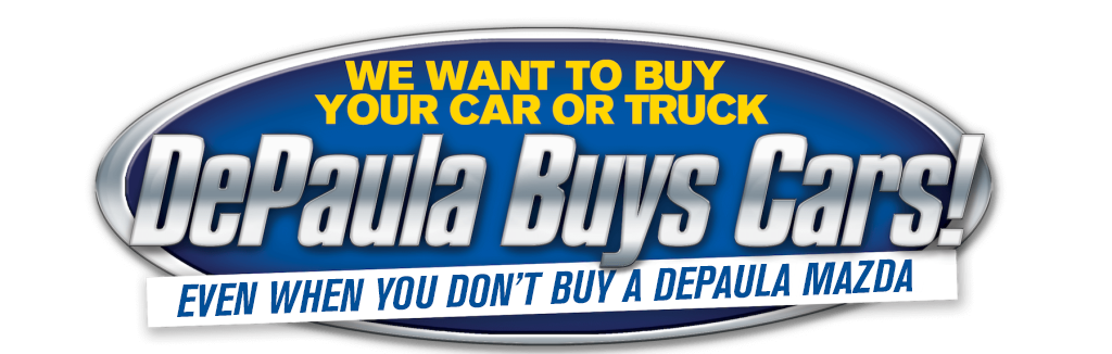 DePaula Mazda buys used cars even if you don't buy from us header image