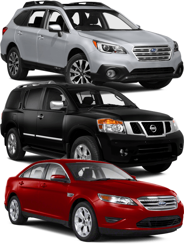 Depaula Mazda wants to buy your used cars - three example cars shown