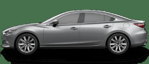 Side view of machine gray Mazda6 mid-size sedan