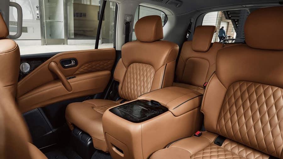 QX80 8-passenger seating