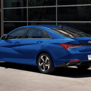 2021 Hyundai Elantra Blue Exterior Back - Available at Ajax Hyundai