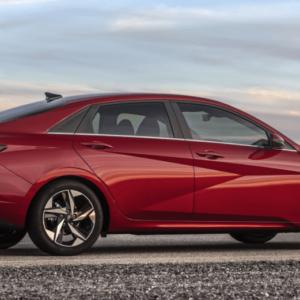 2021 Hyundai Elantra Exterior Side Red - Available at Ajax Hyundai