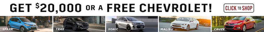 Get 20k$ or free Chevy