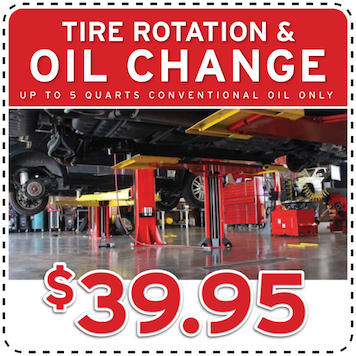 tire rotation and oil change