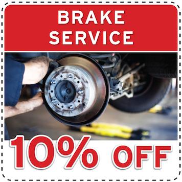 10% off brake service