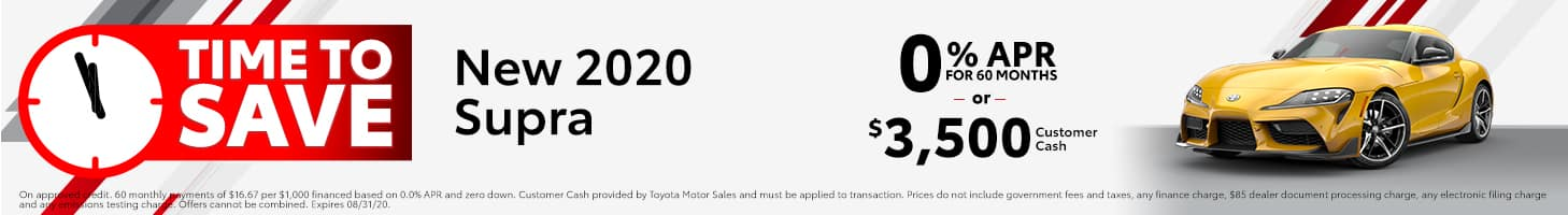 Time To Save - 2020 Toyota Supra