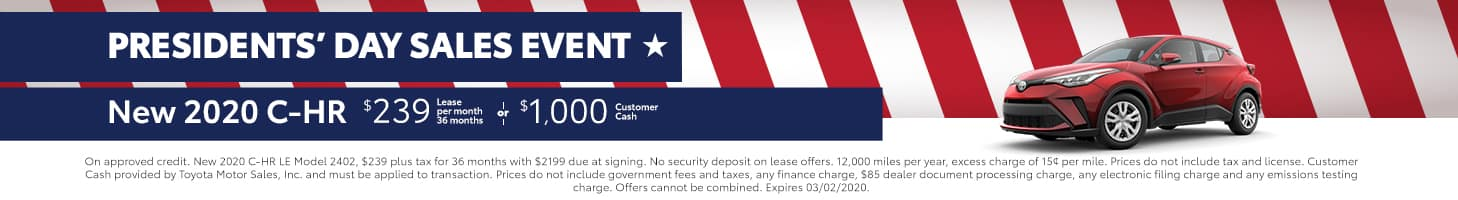 Presidents' Day Sales Event - C-HR