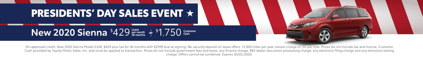 Presidents' Day Sales Event - Sienna