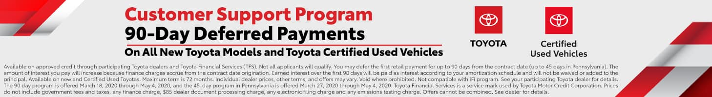 90 Day Deferred Payment