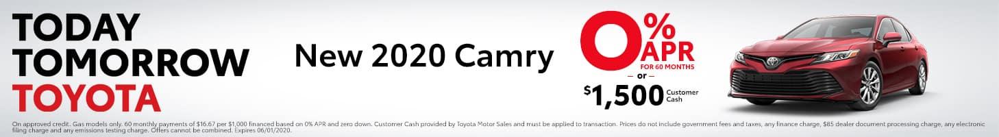 2020 Camry - 0% APR or Customer Cash