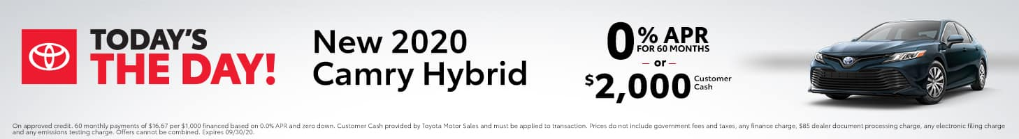 Today's The Day - 2020 Camry Hybrid