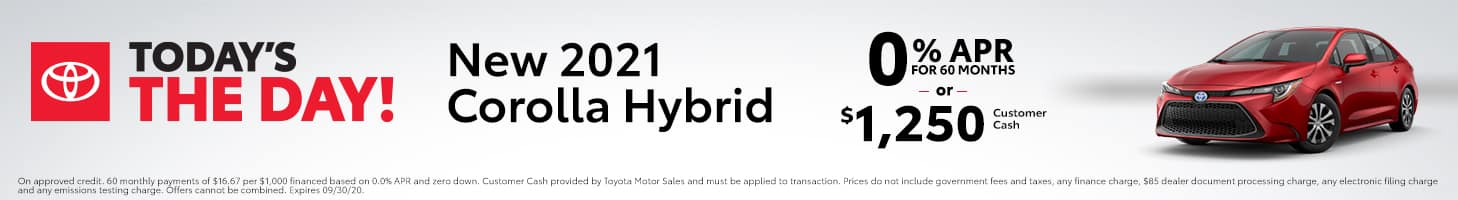 Today's The Day - 2021 Corolla Hybrid
