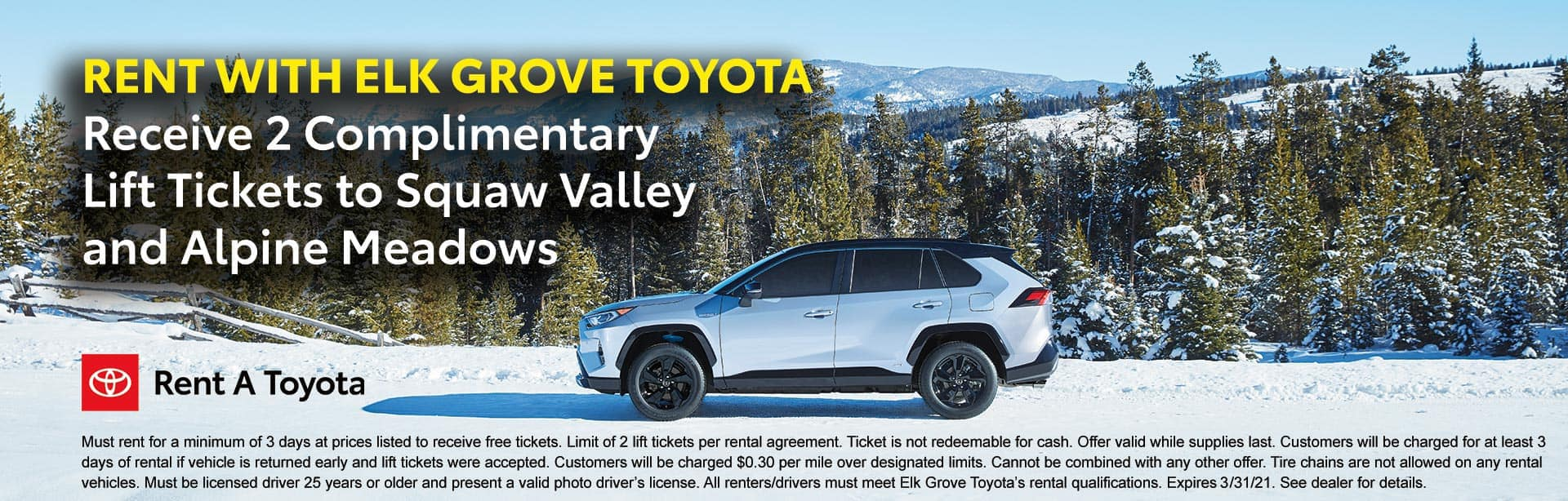 Squaw Valley / Alpine Meadows Lift Tickets