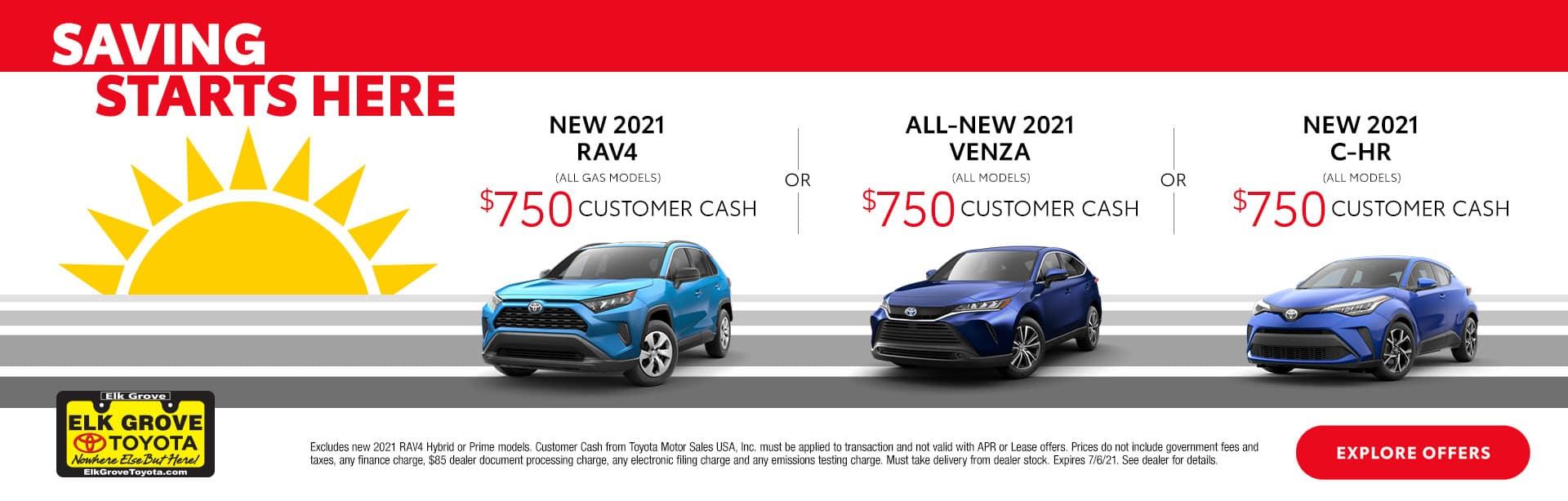 Saving Starts Here - 2021 Venza