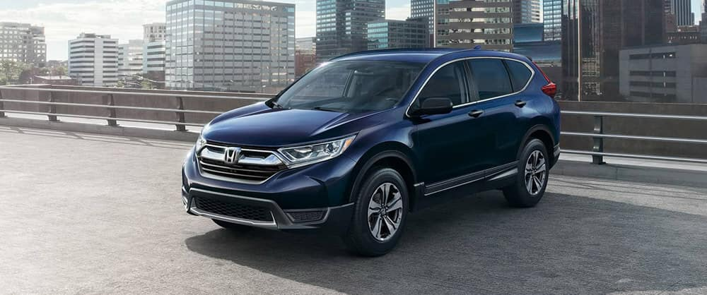 Blue 2018 Honda CR-V parked in city