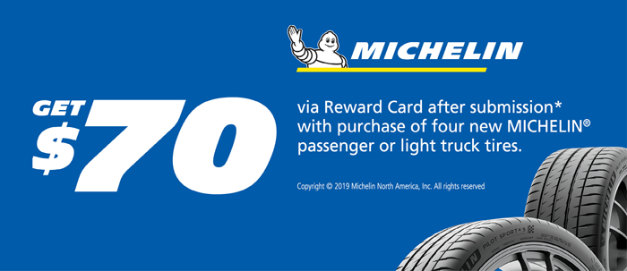 $70 Michelin Tire Rebate at Frank Leta Honda