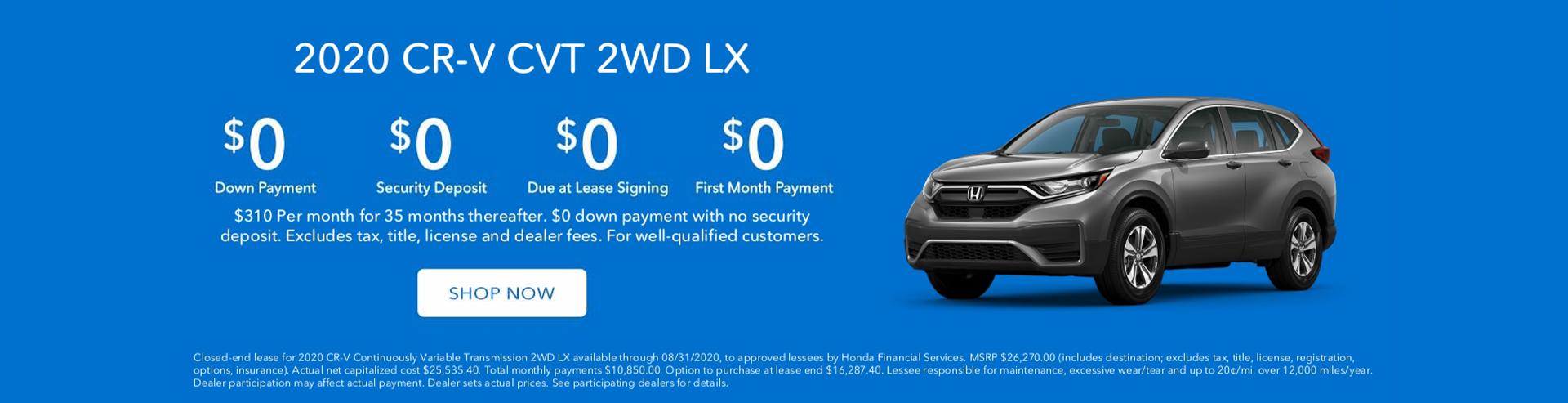 CR-V Lease Special St. Louis Honda Dealer