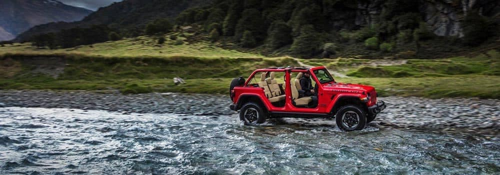 2018 Jeep Wrangler Rubicon Off Roading With Top And Doors Off