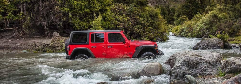 2018 Jeep Wrangler Wading in Water