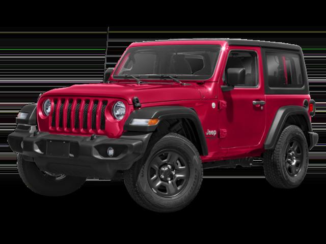 2019 Jeep Wrangler 2 door in red