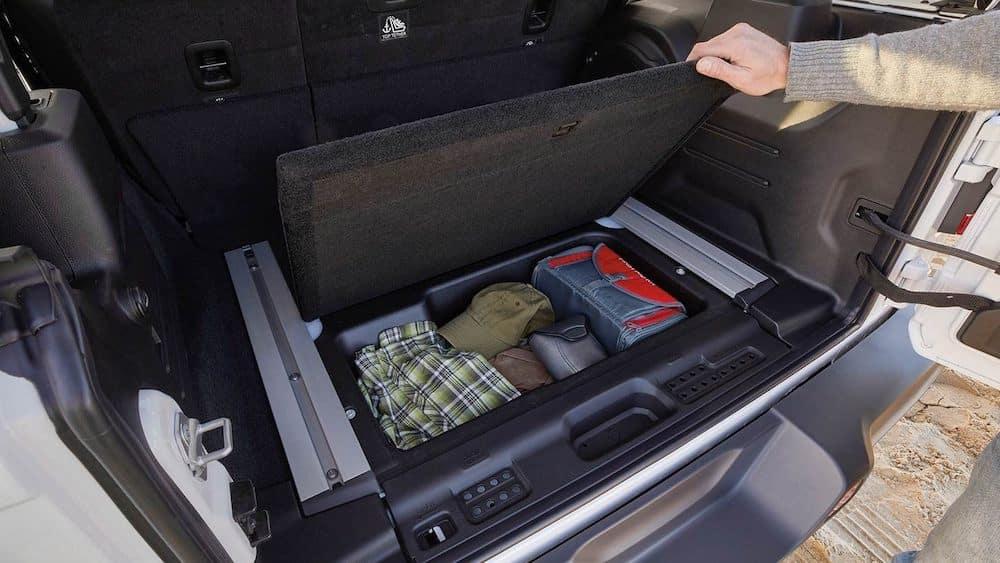 2019 Jeep Wrangler interior cargo configurations
