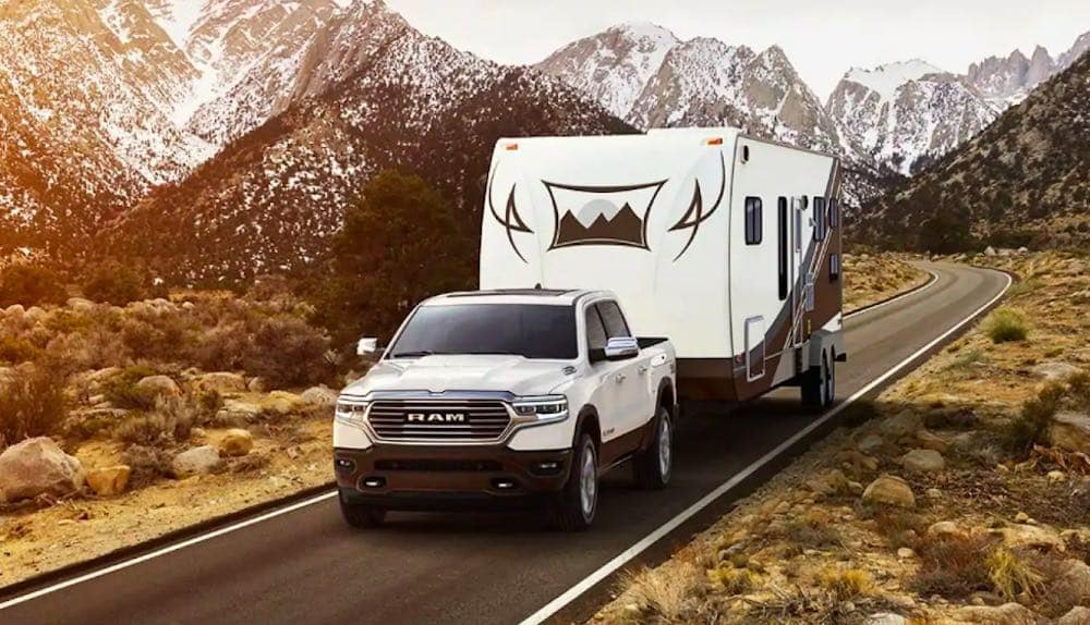 2019 RAM 1500 towing trailer