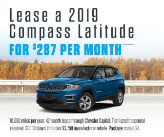 <center>Lease a 2019 Compass Latitude for $287 Per Month<center>