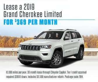 <center>Lease a 2019 Grand Cherokee for $369 Per Month<center>