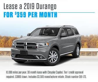 <center>Lease a 2019 Durango for $359 Per Month<center>