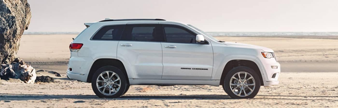 Jeep Grand Cherokee Parked on the Beach