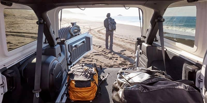 Jeep Wrangler Interior Cargo Area View