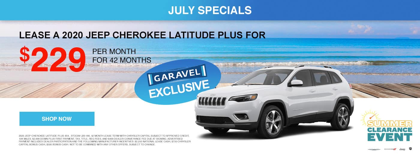 Lease a Jeep Cherokee for $229