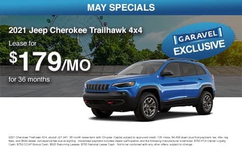<center>Lease a 2020 Jeep Cherokee Trailhawk 4x4 for $179/month for 36 months<center>