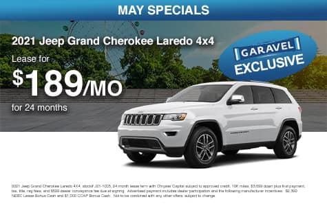 <center>Lease a 2021 Jeep Grand Cherokee Laredo 4x4 for $189/month for 24 months<center>