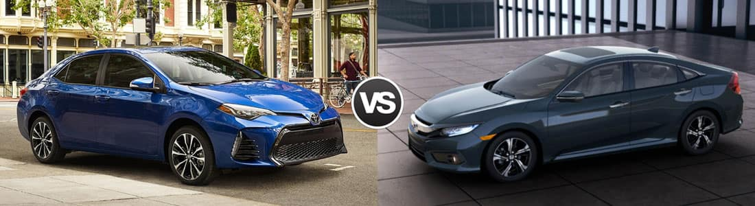 2018 Toyota Corolla vs 2017 Honda Civic