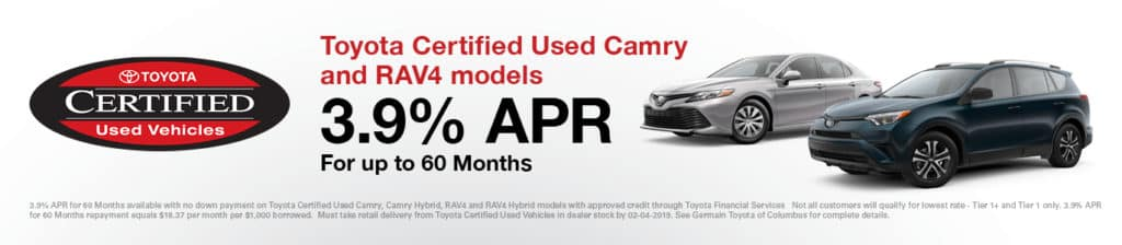 Certified Used Cars >> Certified Pre Owned Toyota Vehicles For Sale Columbus Oh